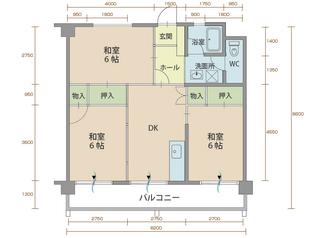 コーポラス2番館 306号室間取りマップ