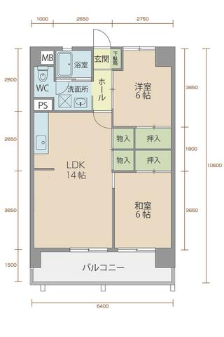 コーポラス5番館 303号室間取りマップ