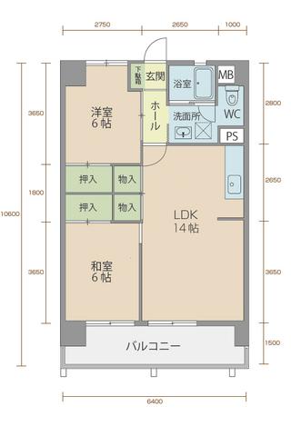 コーポラス5番館 205号室間取りマップ
