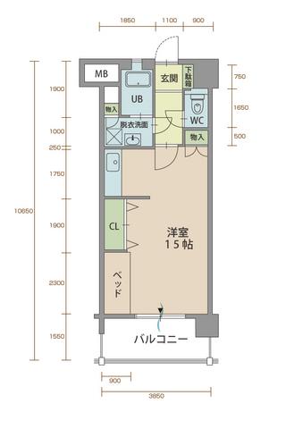 カルミア90 702号室間取りマップ