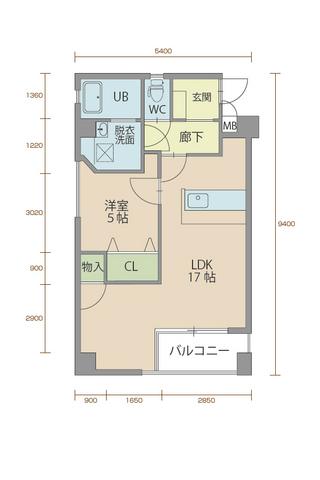 ウィステリア櫻小路 101号室間取りマップ