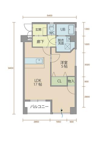 ウィステリア櫻小路 107号室間取りマップ