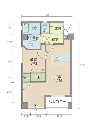 ウィステリア櫻小路 501号室間取りマップ