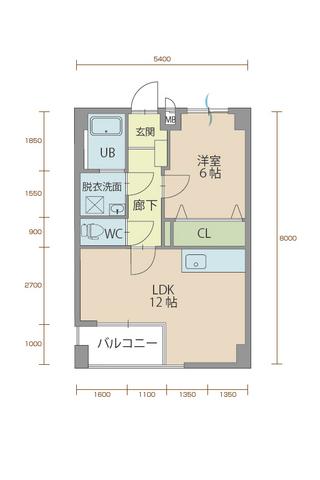 ウィステリア櫻小路 102号室間取りマップ