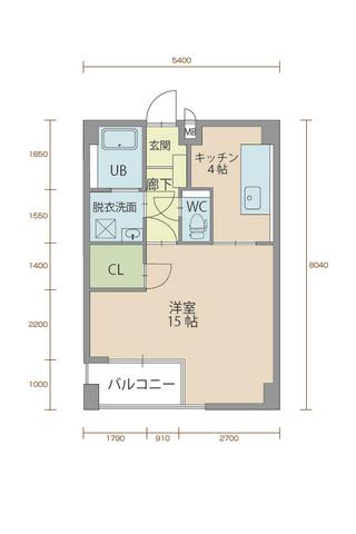 ウィステリア櫻小路 205号室間取りマップ