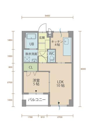 ウィステリア櫻小路 505号室間取りマップ